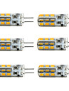 3W G4 Ampoules Mais LED T 24 SMD 2835 160-190 lm Blanc Chaud / Blanc Froid Gradable DC 12 V 6 pieces