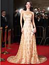 TS couture® формальное вечернее платье Онлайн жемчужина часовни поезд кружева с бисером / кристалл детализацией / шнурок / створка / ленты