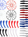 4color / 48 SYMA x5s / x5sw / x5sc reservdelar in 16 landningsställ + 16-bladig propeller + 16 skyddsring för rc quadcopter drönare