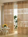 Två paneler Rustik / Modern / Designer Geometrisk / Kurva Kaffe Living Room Polyester Sheer gardiner Shades