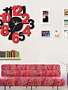 Rond / Nouveaute Moderne/Contemporain Horloge murale , Personnages / Paysage / Mariage / Famille Verre / Bois 40cm x 40cm( 16in x 16in )