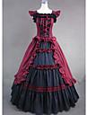 One-piece/Klänning Gotisk Lolita Victoriansk Cosplay Lolita-klänning Röd Vintage Ärmlös Lång längd Trikå För Dam Bomull