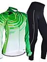 FORIDER® Cykeltröja och tights Dam Lång ärm CykelAndningsfunktion / Snabb tork / Vindtät / Anatomisk design / Fuktgenomtränglighet /