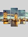 Paysage / Architecture / Moderne Toile Cinq Panneaux Pret a accrocher , Format Horizontal