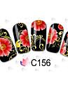 Tecknat / Blomma / Vackert - Finger / Tå - 3D Nagelstickers - av Andra - 100PCS - styck 15cm x 10cm x 5cm (5.91in x 3.94in x 1.97in) - cm