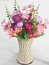 Gren Silke Plast Prästkragar Camellia Bordsblomma Konstgjorda blommor 12
