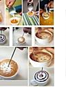 kaffe latte art nål av rostfritt stål krok Dekorsömsfot krok konstpennverktyget cappuccino dekoration verktyg