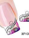 Tecknat / Blomma / Vackert - Finger / Tå - 3D Nagelstickers - av Andra - 40PCS - styck 15cm x 10cm x 5cm (5.91in x 3.94in x 1.97in) - cm