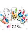Tecknat / Blomma / Vackert - Finger / Tå - 3D Nagelstickers - av Andra - 50PCS - styck 15cm x 10cm x 5cm (5.91in x 3.94in x 1.97in) - cm