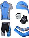 CHEJI® Maillot et Cuissard de Cyclisme Homme Manches courtes VeloRespirable Sechage rapide Resistant aux ultraviolets La peau 3 densites
