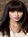 longs cheveux synthetiques droite nouvelle dame europeen de couleur noire