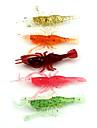 """30PCS st Mjukt bete / Räka Slumpmässig färg 3.6 g/1/8 Uns,80 mm/3-1/4"""" tum,Mjuk plast / SilikonKastfiske / Färskvatten Fiske / Drag-fiske"""