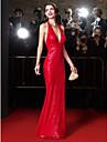 ts couture® vestito da sera convenzionale del fodero / colonna Halter pavimento-lunghezza paillettes con paillettes