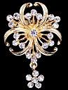 femei cristal perla trifoi brosa pentru decorare petrecere de nunta eșarfă, bijuterii fine