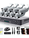 Liview® 8CH HDMI 960H Network DVR 900TVL Outdoor Day/Night Security Camera System
