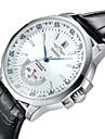 WINNER Bărbați Ceas Elegant Ceas de Mână ceas mecanic Mecanism automat Calendar Rezistent la Apă Ceas Casual Mare Dial Piele Bandă Luxos