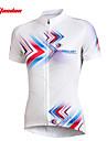 TASDAN Maillot de Cyclisme Femme Manches courtes Velo Maillot Hauts/TopsSechage rapide Resistant aux ultraviolets Respirable