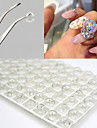 7PCS 8MM DIY Hollow Crystal Ball Nail Art Decorations