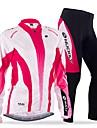 NUCKILY® Maillot et Cuissard Long de Cyclisme Femme Manches longues VeloRespirable Pare-vent Design Anatomique Permeabilite a l\'humidite