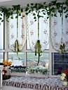 En panel Fönster Behandling Europeisk , Kurva Vardagsrum Polyester Material Skira Gardiner Shades Hem-dekoration For Fönster