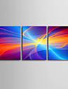 Sträckt Canvastryck konst abstrakt dröm Silk Set av 3