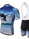XINTOWN® Maillot et Cuissard a Bretelles de Cyclisme Femme / Homme / Unisexe Manches courtes VeloRespirable / Sechage rapide / Resistant