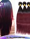 """3bundles 12 """"-26"""" cheveux vierge droites extensions de cheveux humains brazilian OMBRE cheveux, la couleur 1b / 99j cheveux humains tisse"""