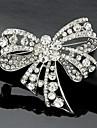 Dame Broșe La modă Cute Stil costum de bijuterii Cristal Bowknot Shape Bijuterii Pentru Nuntă Petrecere Ocazie specială Zi de Naștere