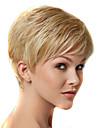 nya europeiska dam blond färg korta lockiga syntetiskt hår peruker