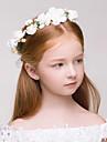 Fata cu Flori Material Textil Plastic Diadema-Nuntă Ocazie specială Exterior Στεφάνια 1 Bucată