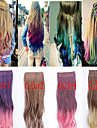 Popular New Double Color Curly Cosplay Synthetic Hair Extention
