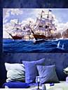 pinturas a oleo de lona de material seascape com moldura esticada pronto para pendurar tamanho 90 x 60cm