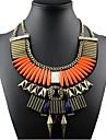 Femme Colliers Declaration Alliage Mode Bijoux de declaration Europeen Orange Bleu royal Bijoux Pour Occasion speciale Anniversaire