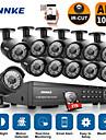 annke® 16CH 1080p dvr CCTV utomhus ir hemsäkerhet kamerasystem med 2 TB hårddisk