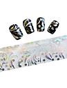 10 Autocollant d\'art de clou Paillettes & Poudre Feuille de bandes de denudage Bande dessinee Adorable Maquillage cosmetiqueNail Art