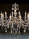 40 Lustre ,  Traditionnel/Classique Chrome Fonctionnalite for Cristal VerreSalle de sejour Chambre a coucher Salle a manger Cuisine