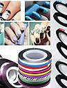 Abstrakt - Finger / Tå - 3D Nagelstickers / Folie Strippning Tape / Andra Dekorationer - av Andra - 1 - styck 4.5*4.5*0.3 - cm