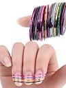 10 Autocollant d\'art de clou Autocollants 3D pour ongles Feuille de bandes de denudage Autre decorations Abstrait Maquillage cosmetique