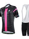 CHEJI® Cykeltröja med Bib-shorts Dam Kort ärm Cykel Andningsfunktion / Snabb tork / Ultraviolet Resistant / 3D Pad / Begränsar bakterier