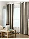 Deux Panneaux Rustique / Europeen Rayure Noir Salle de sejour Polyester Rideaux occultants rideaux