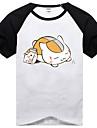 Inspirerad av Natsume Yuujinchou Natsume Takashi Animé Cosplay Kostymer/Dräkter Cosplay T-shirt Tryck Svart Kort ärm T-shirt