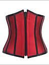 Shaperdiva Women\'s Waist Cincher Front Zip Steel Boned Corset Reversible Bustier