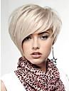 naturligt ljus blond raka lammskinn kort peruk för kvinna fri frakt