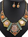Set bijuterii Turcoaz Aliaj imitație de diamant Curcubeu Nuntă Petrecere 1set Coliere Σκουλαρίκια Cadouri de nunta