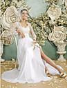 Robe de Mariage -Fourreau / Colonne Reine Anne Longueur Sol Longueur Sol