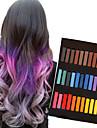 36 crayons de couleur de craie temporaires pour cheveux non-toxiques pastels de teintures capillaires collent les outils de coiffage diy