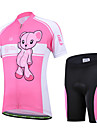 CHEJI® Cykeltröja med shorts Barns Kort ärm Cykel Andningsfunktion / Snabb tork / Ultraviolet Resistant / 3D Pad / Begränsar bakterierArm