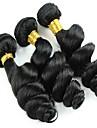 mix storlek 3st / lot 8-26inch peruanska jungfru hår lös våg svart färg rå människohår väver partihandeln.