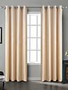 Deux Panneaux Le traitement de fenetre Rustique Moderne Neoclassique Rococo Baroque Europeen Designer , Solide Chambre a coucher Polyester