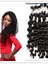 Tissages de cheveux humains Cheveux Peruviens Ondulation profonde 4 Pieces tissages de cheveux